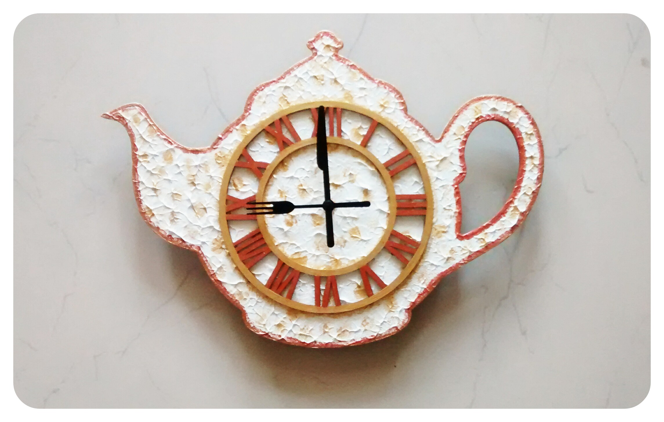 Teapot Kitchen Wall Clock Clocks Dcor Home Dcor World Art