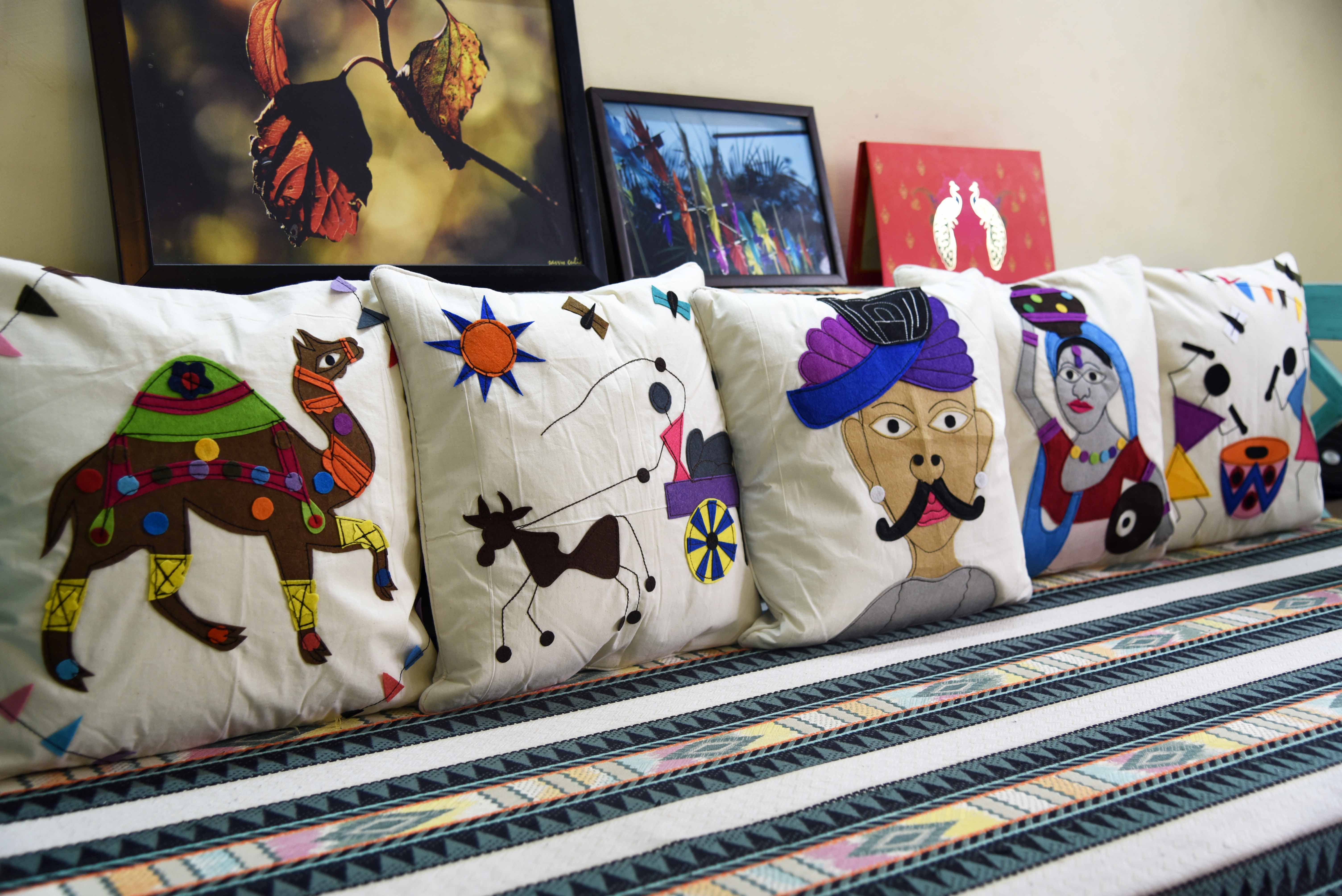Animal appliqué pillows baby shower power gift sew home